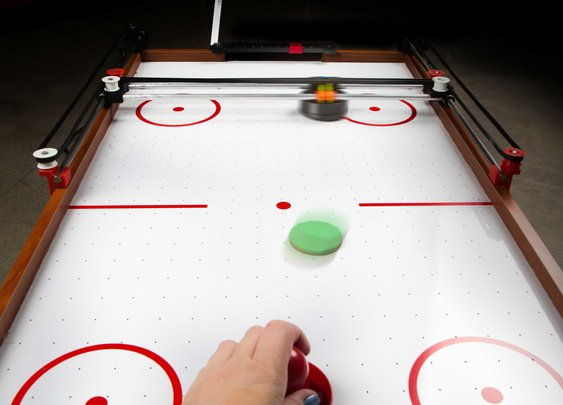 Assemble a Robot Opponent for Air Hockey