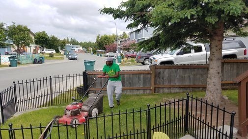 Caring with lawn care; Alabama student brings campaign to Alaska