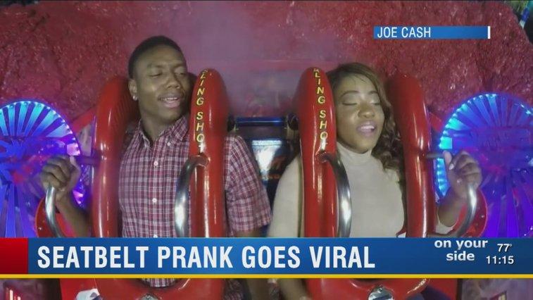 Slingshot ride prank