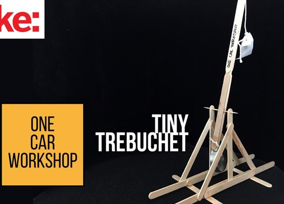 Build a Tiny Trebuchet with One Car Workshop