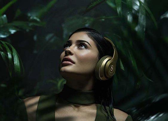Kylie Jenner for Balmain x Beats by Dr. Dre headphones
