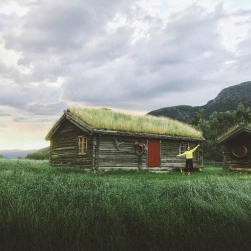 200-Year Old Viking Cabin Near the Norwegian Fjords
