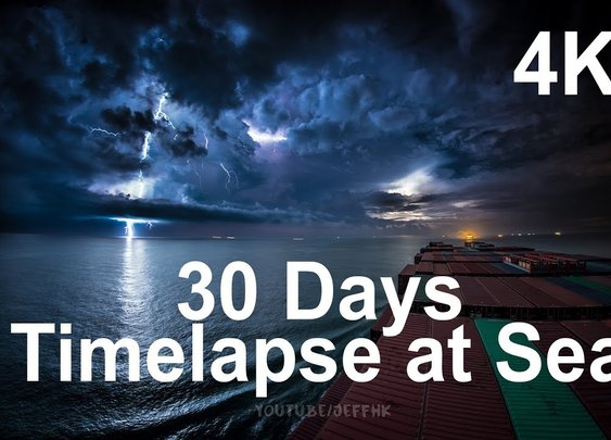 30 Days Timelapse at Sea in 4K