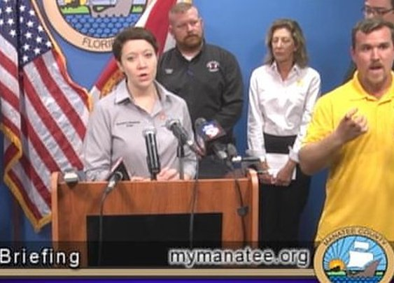 Sign Language Interpreter Warned of 'Pizza' and 'Bear Monster' at Irma Briefing