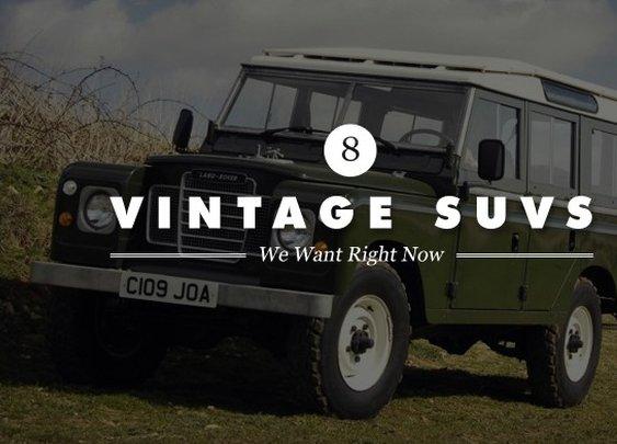 8 Coolest Vintage SUVs   Cool Material