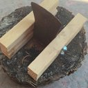 Kindling splitter made from an old axe head