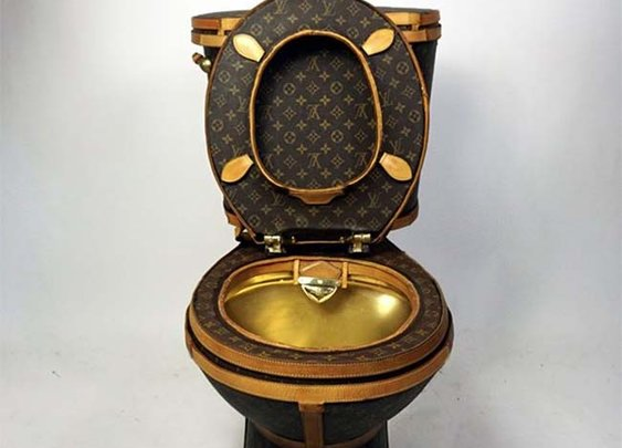 This Louis Vuitton Toilet by Illma Gore Can Be Yours For $100,000