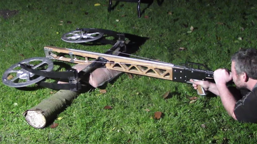 Junkyard Crossbow Aims to be a Car Killer | Hackaday