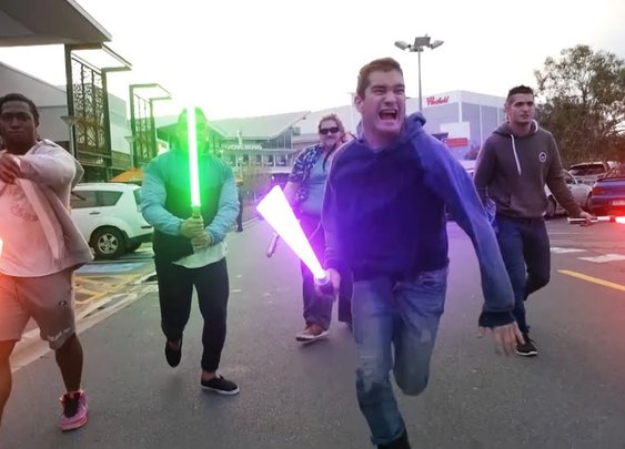 STAR WARS in Public - YouTube