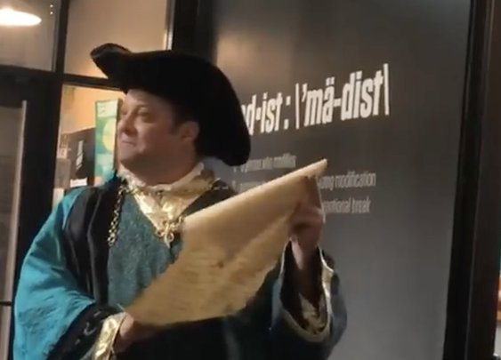 Budweiser Uses Town Crier To Send Cease-and-Desist Letter