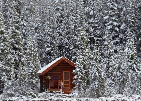 Rustic Snowy Cabin