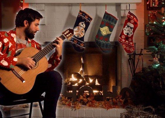 A STAR WARS CHRISTMAS - Classical Guitar Mashup (BeyondTheGuitar)