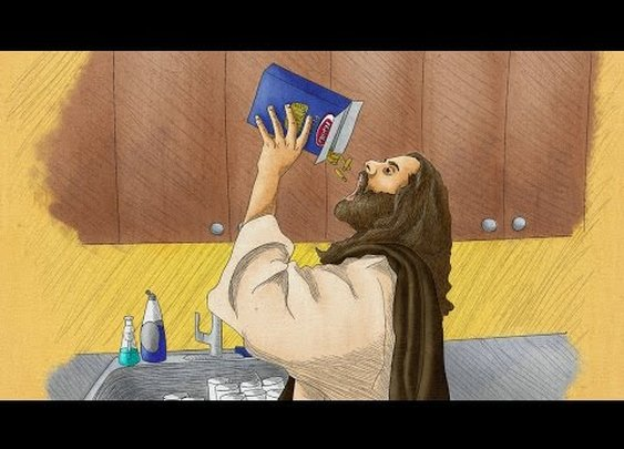 'Christ Cometh To My House And Eats All Of My Food'
