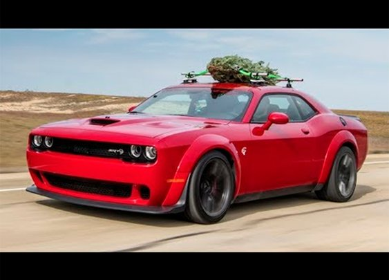 This Is The World's Fastest Christmas Tree: 174 MPH On Top Of A Dodge Challenger Hellcat Widebody