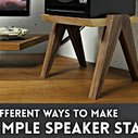 Simple Speaker Stands // Woodworking How To