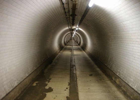Under river, outside time: The Woolwich Foot Tunnel Anomaly