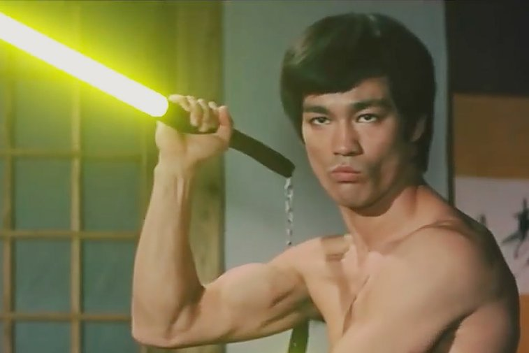 Bruce Lee With Lightsabers | Uncrate