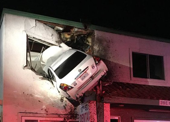 This Might Be the Weirdest Car Crash Ever