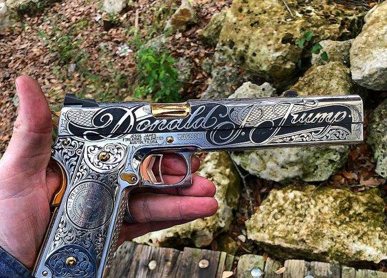 President Trump's new pistol