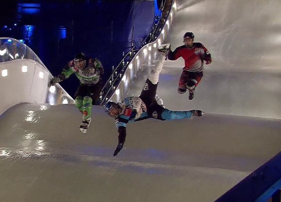 Best Ice Cross Crashes, Fails and Action - Crashed Ice - YouTube