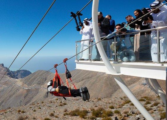 Dubai just opened the world's longest zipline