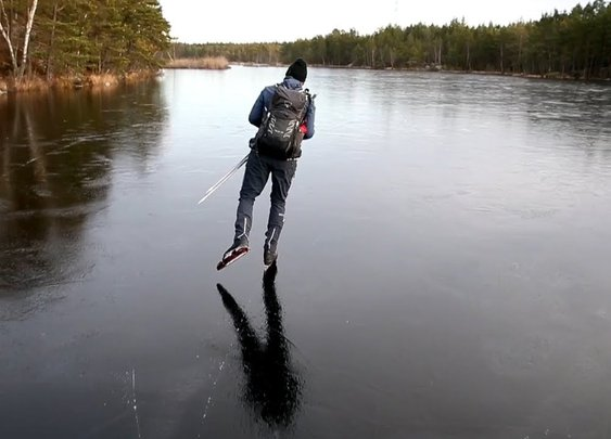 Hear the Otherworldly Sounds of Skating on Thin Ice