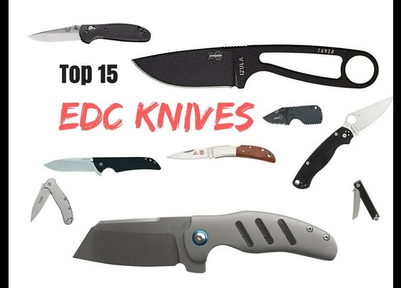 Top 15 EDC Knives of 2018 - YouTube