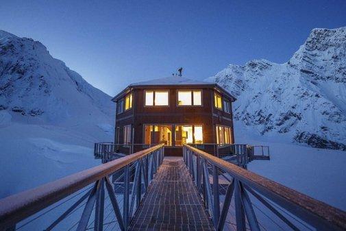 Hexagonal chalet built on North America's highest mountain