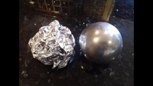 DIY Polished Aluminium Foil Ball (sanding sanding + more sanding )