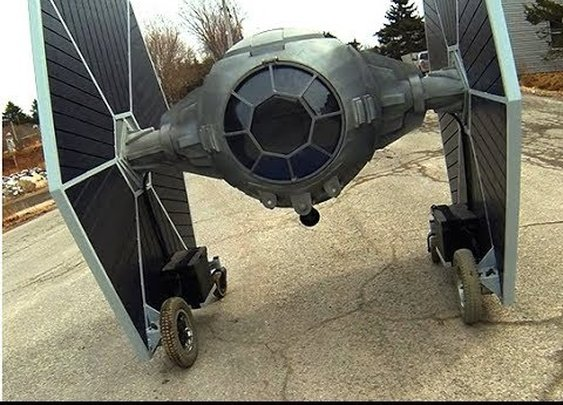 Man Makes a Driveable Tie Fighter From Scrap
