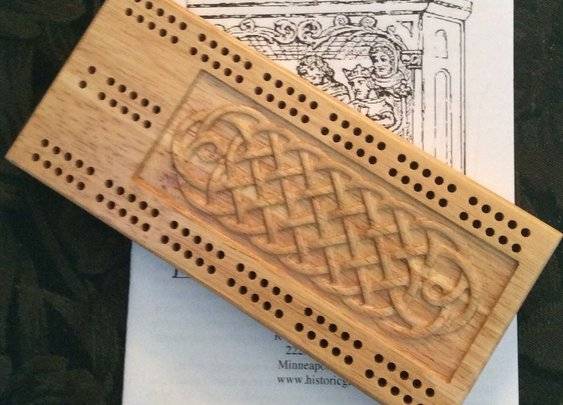 Engraved Small Cribbage Board