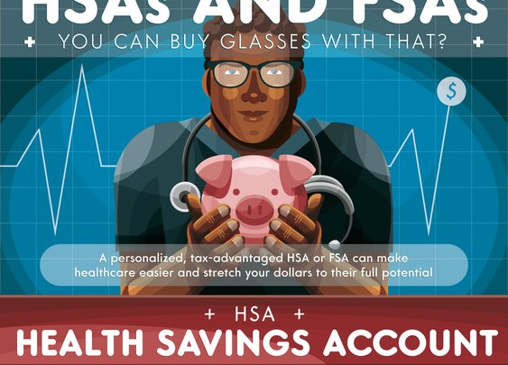 A Guide to HSA and FSA Infographic | FramesDirect.com