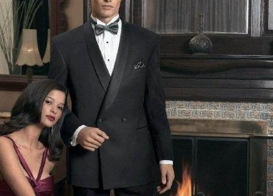 Double Breasted Shawl Collar Tuxedo With One Button In Black Color