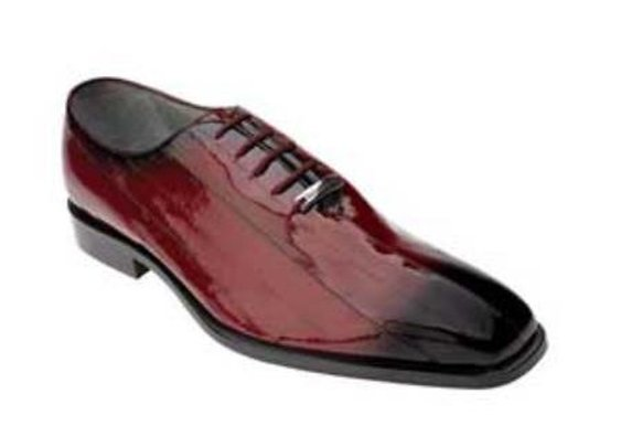 Belvedere Stella Eel Shoes With Antique Scarlet Style In Red Color