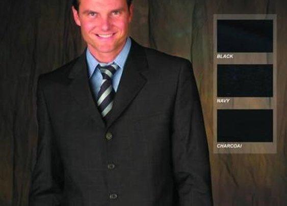 Fashionable 5 Button Solid Color Church Mens Dress Suits