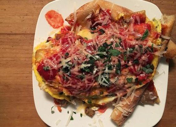 Behold, The Pizza Omelette
