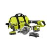 Ryobi 18-Volt ONE+ Lithium-Ion Super Combo Kit $129