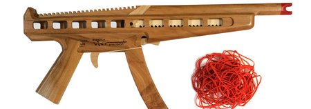 Semi-Automatic Rubber Band Machine Gun