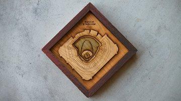 Ballpark Diamonds: Wood Sculptures of Your Ballpark
