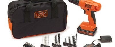 TODAY ONLY: Black & Decker 20-Volt MAX Lithium-Ion Drill Kit with 100 Accessories $59.99