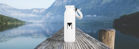 EDC Water Bottle: Includes Firestarter and Paracord