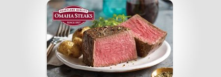 $100 Omaha Steaks Gift Card for $85
