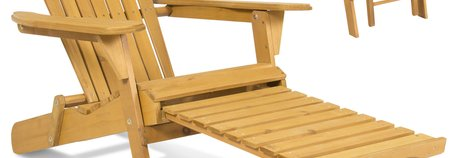 Foldable Adirondack Chair with Ottoman $69.95 (reg $150)