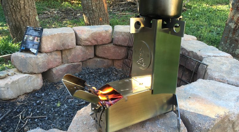 Collapsible Camping Rocket Stove