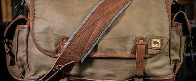 Military Waxed Canvas Messenger Bag