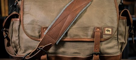 Military Waxed Canvas Messenger Bag