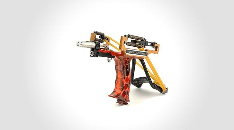 Slingshot with Laser