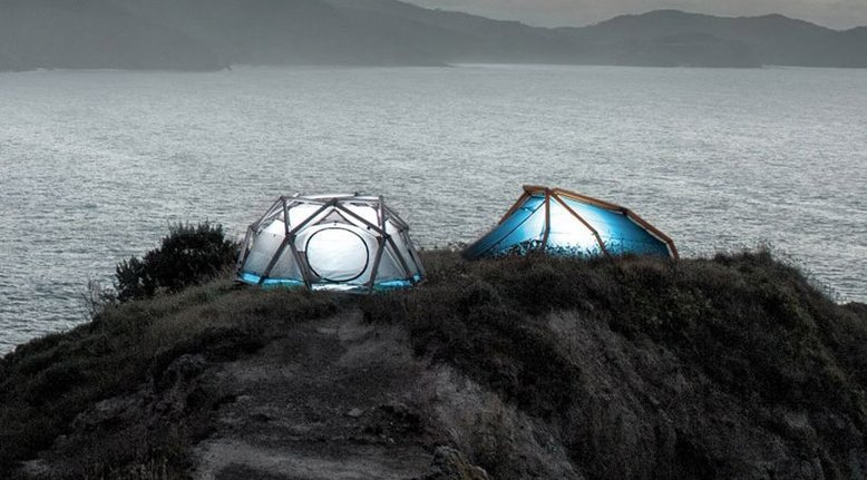 Inflatable Geodesic 3-Person Tent