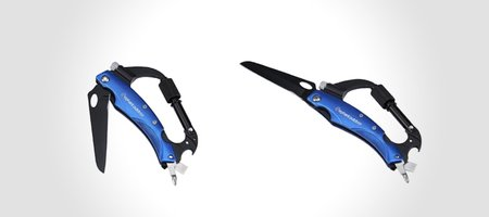 Multitool Carabiner with Blade, Flashlight and Bottle Opener