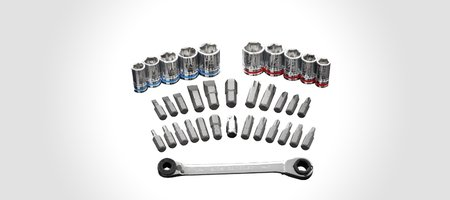 Handy Right Angle Ratchet Set